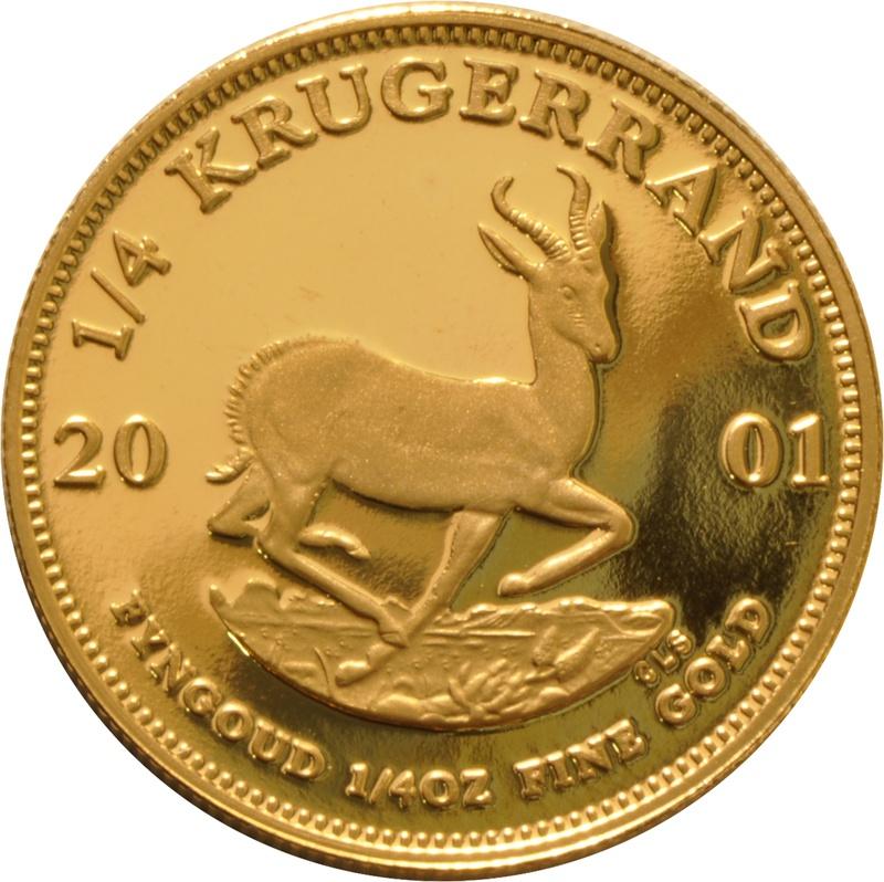 2001 Proof Quarter Ounce Gold Krugerrand