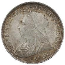 1899 Queen Victoria Silver Shilling