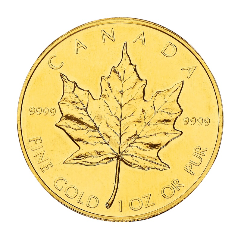 1987 1oz Canadian Maple Gold Coin