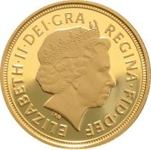 2007 Gold Half Sovereign Elizabeth II Fourth Head Proof
