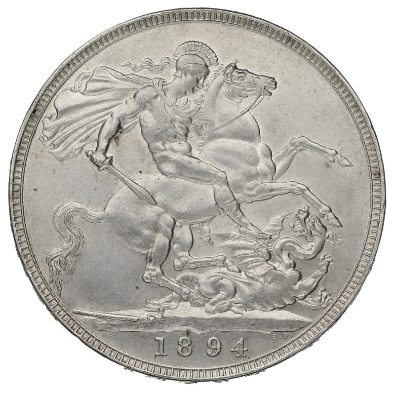 1894 LVII Queen Victoria Silver Crown.