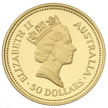 1987 Proof Half Ounce Gold Australian Nugget