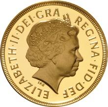 2001 Gold Sovereign - Elizabeth II Fourth Head Proof
