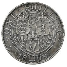 1898 Queen Victoria Silver Shilling