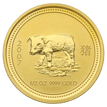 2007 Half Ounce Year of the Pig Gold Coin
