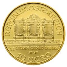 2020 Tenth Ounce Austrian Gold Philharmonic Coin