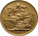 1922 Gold Sovereign - King George V - P