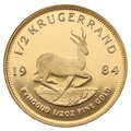1984 Proof Half Ounce Krugerrand Gold Coin