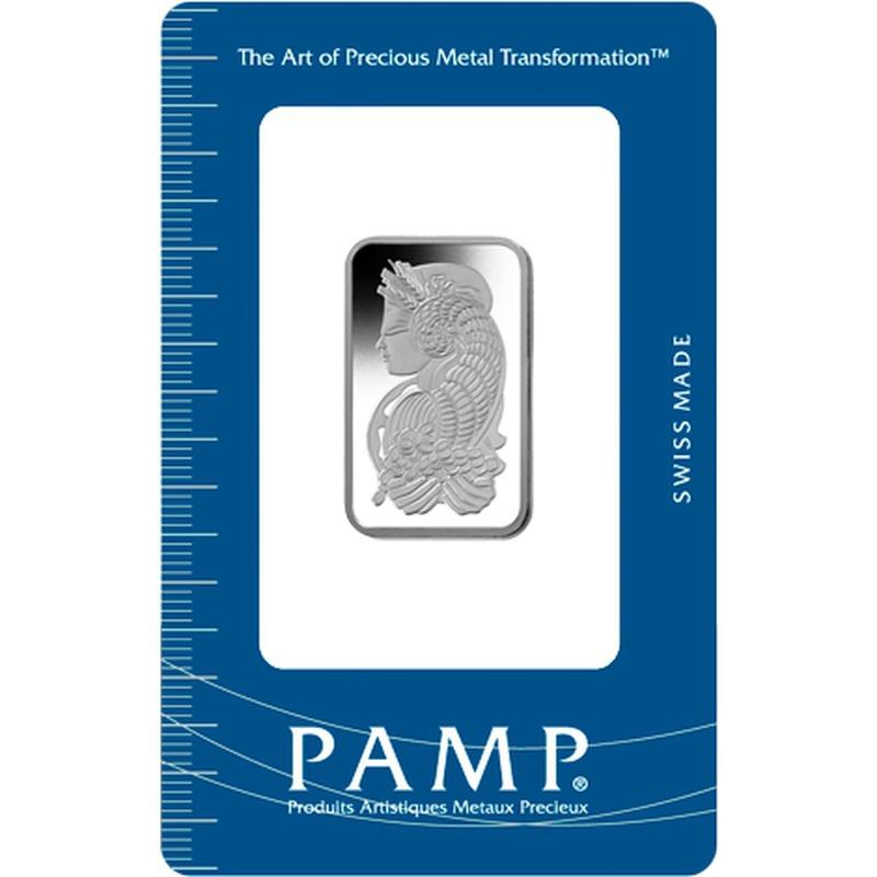 PAMP 50 Gram Platinum Bar Minted