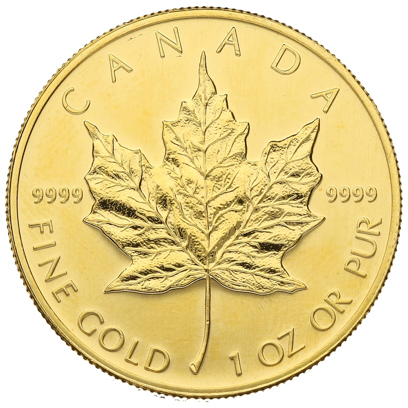 2001 1oz Canadian Maple Gold Coin