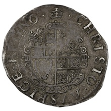 1635-6 Charles I Silver Shilling - mm Crown