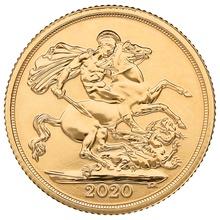 Ten 2020 Sovereign Gold Coin in Gift Box