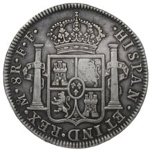 1779 George III Silver Countermarked Dollar Mexico