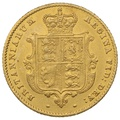 1855 Half Sovereign Victoria Young Head Shield Back - London