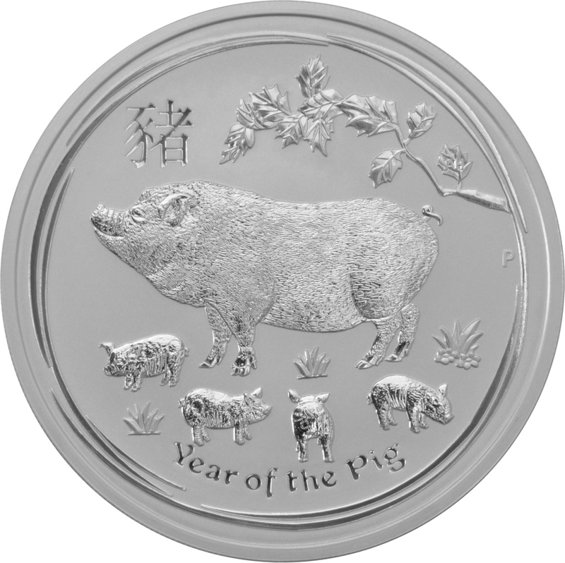 2019 5oz Australian Lunar Year of the Pig Silver Coin