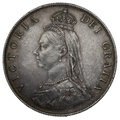 1887 Queen Victoria Silver Milled Florin - Good Extremely Fine
