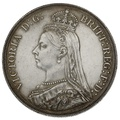 1887 Queen Victoria Silver Milled Crown - Good Extremely Fine