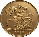 1998 - Gold £5 Proof Coin (Quintuple Sovereign)