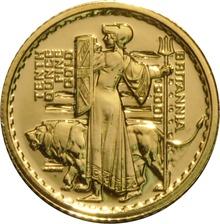 2001 Tenth Ounce Gold Britannia