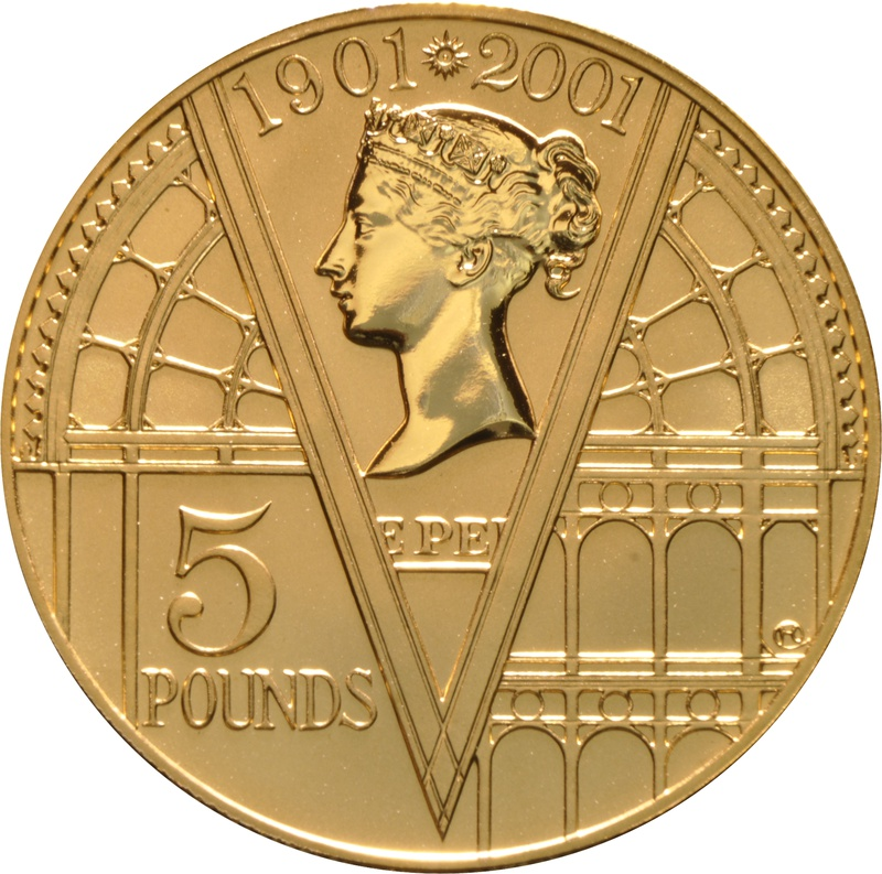 2001 - Gold £5 Proof Crown, Victoria 100th Anniversary