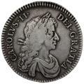 1672 Charles II Silver Milled Halfcrown