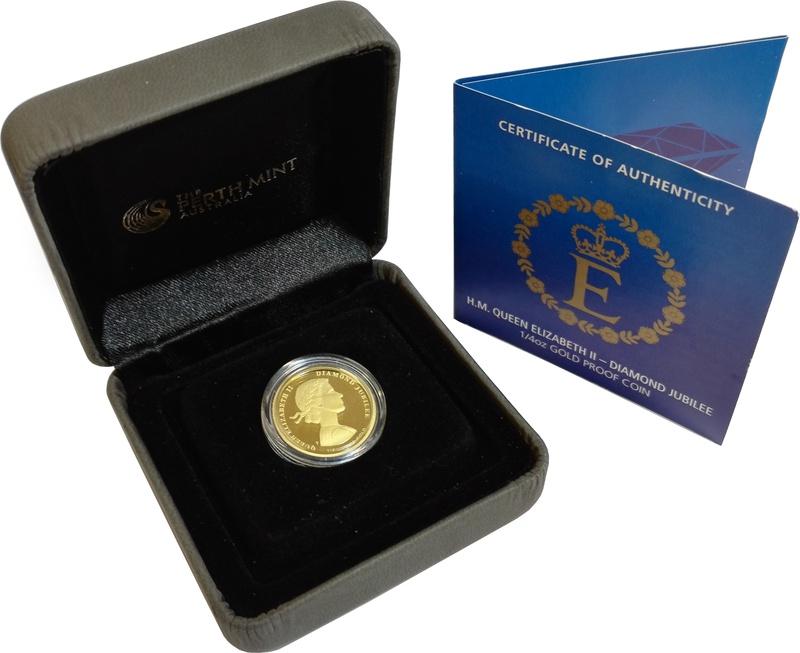 H.M. Queen Elizabeth II - Diamond Jubilee 1/4oz Gold Proof Coin Boxed