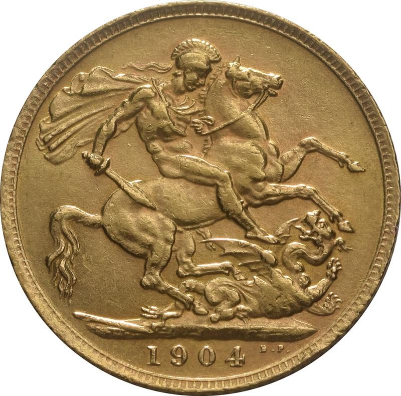 1904 Gold Sovereign - King Edward VII - London