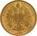 Gold Austrian 10 Coronas