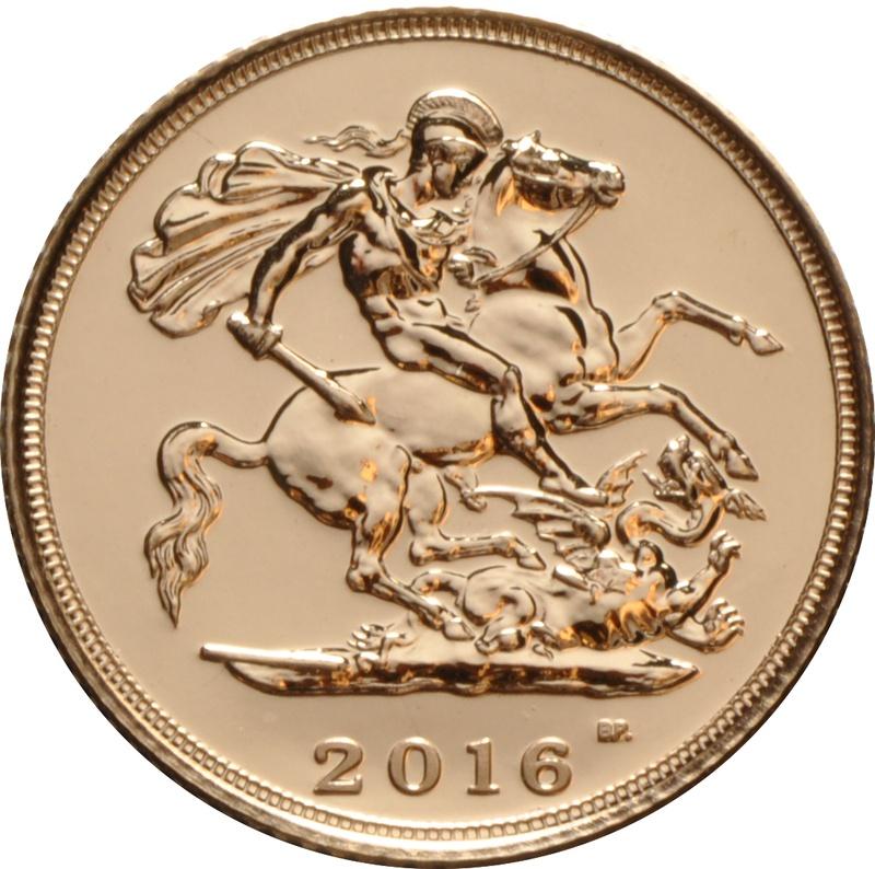 2016 Gold Half Sovereign Elizabeth II Fifth Head