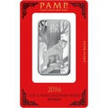 PAMP 1oz Silver Bar - 2016 Year of the Monkey