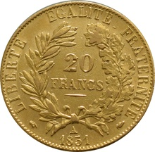20 French Francs - Ceres