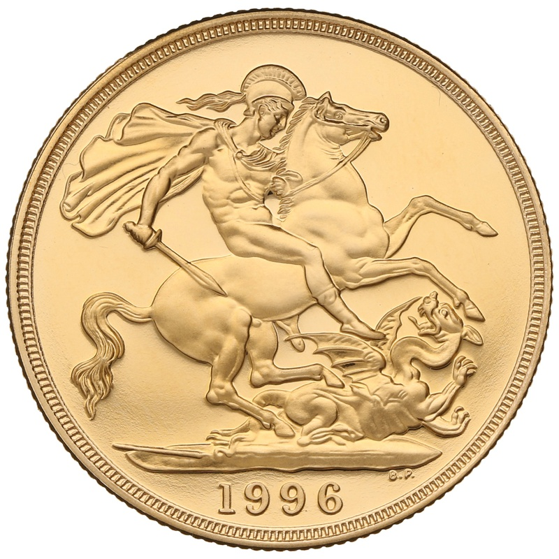 1996 £2 Two Pound Proof Gold Coin (Double Sovereign)