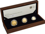 2010 Proof Britannia Gold 3-Coin Set Boxed