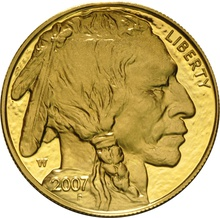 2007 American Buffalo One Ounce Gold Reverse Proof Coin