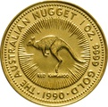 1990 1oz Gold Australian Nugget