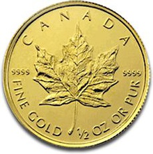 2012 Half Ounce Gold Canadian Maple