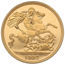 1992 £2 Two Pound Proof Gold Coin (Double Sovereign)