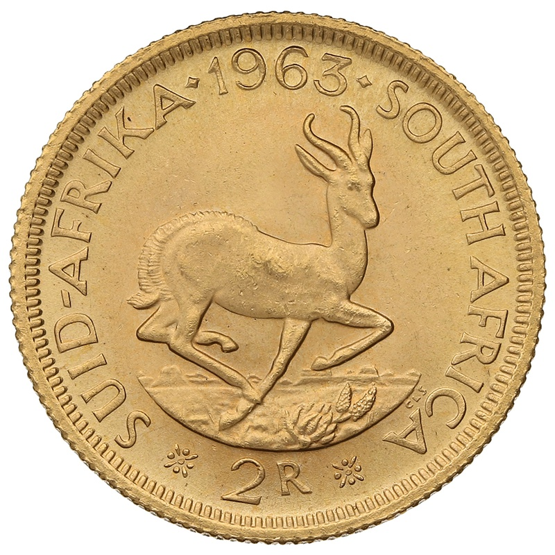 1963 2R 2 Rand coin South Africa