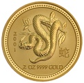 2001 2oz Year of the Snake Lunar Gold Coin