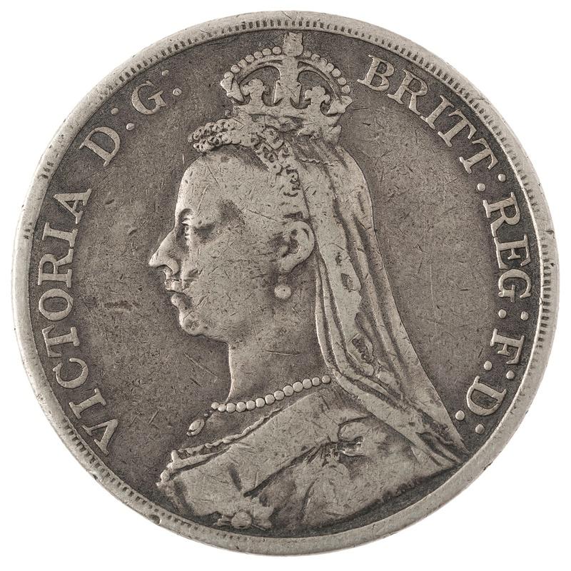 1890 Victoria Jubilee Head Crown - Fine