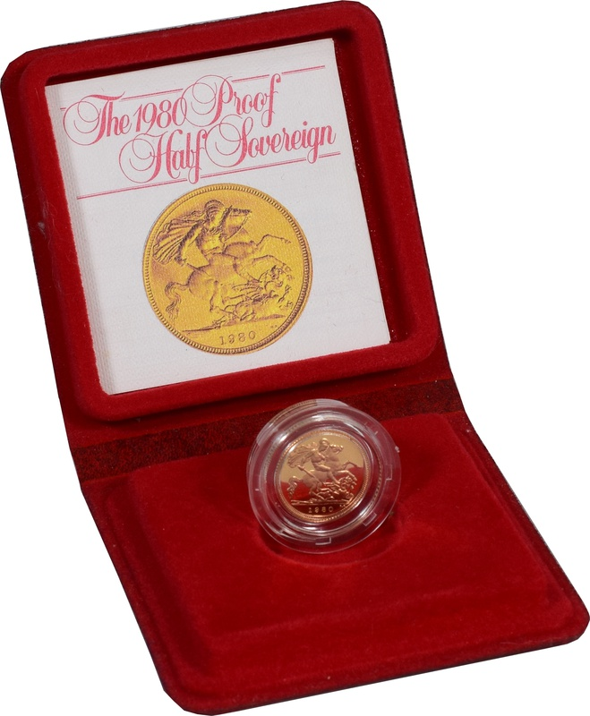 Gold Proof 1980 Half Sovereign Boxed