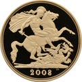 2008 - Gold £5 Proof Coin (Quintuple Sovereign)