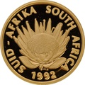 1992 Protea One Ounce Proof Gold Coin