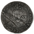 1551-3 Edward VI Silver Sixpence mm Tun