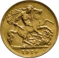 1926 Gold Half Sovereign - King George V - SA
