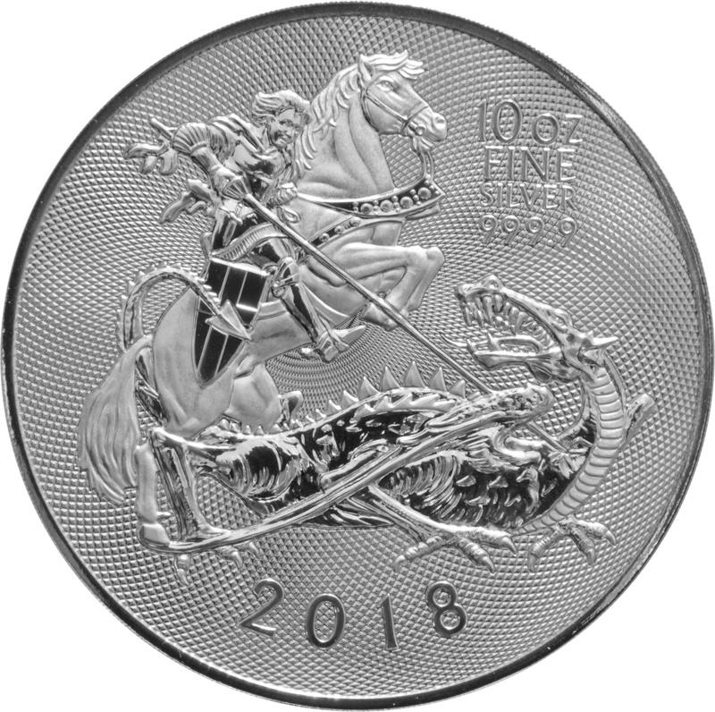 2018 Royal Mint Valiant 10oz Silver Coin