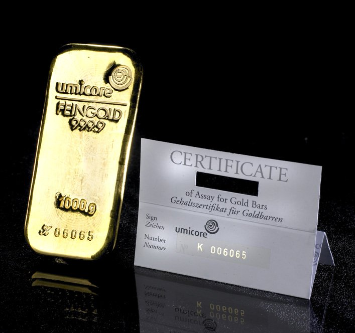 1kg Gold Bars By Umicore Bullionbypost From 163 25 084