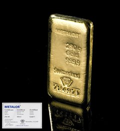 Metalor 250 Gram Gold Bars
