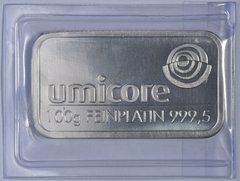 100 gram Platinum Umicore Bar