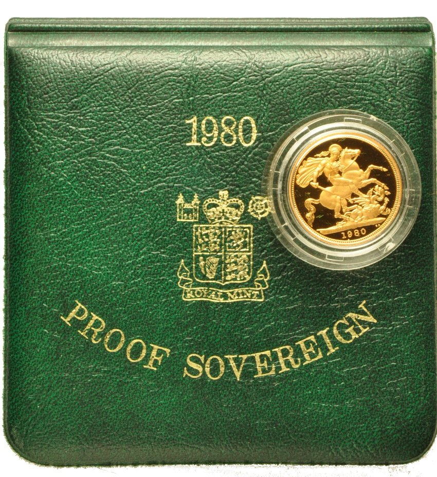 Gold Proof 1980 Sovereign Boxed 163 328